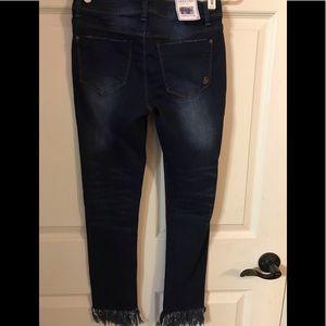 Indigo Rein Jeans - Fray hem jeans